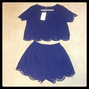 Zaful Shirt and Short Set NWT